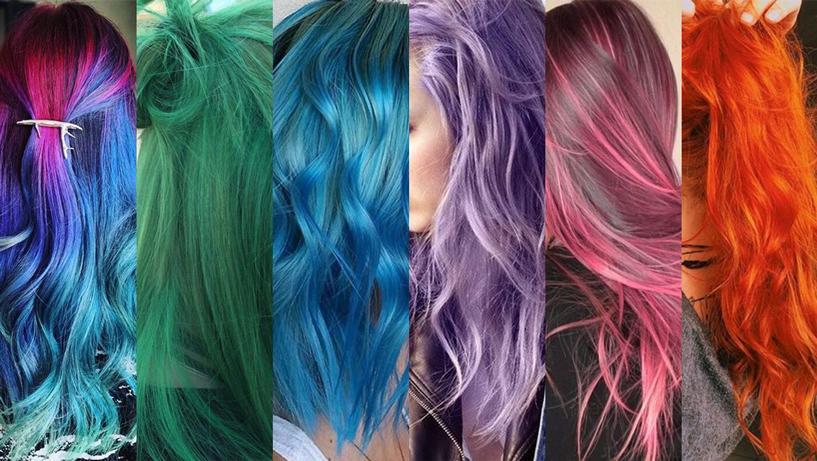 cabelos coloridos virou tendência