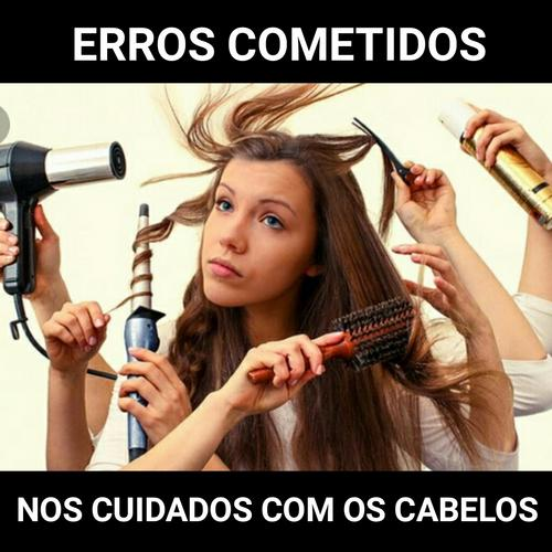 Erros cometidos nos cuidados diários dos cabelos