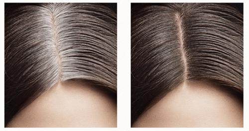 Cobertura de cabelos brancos