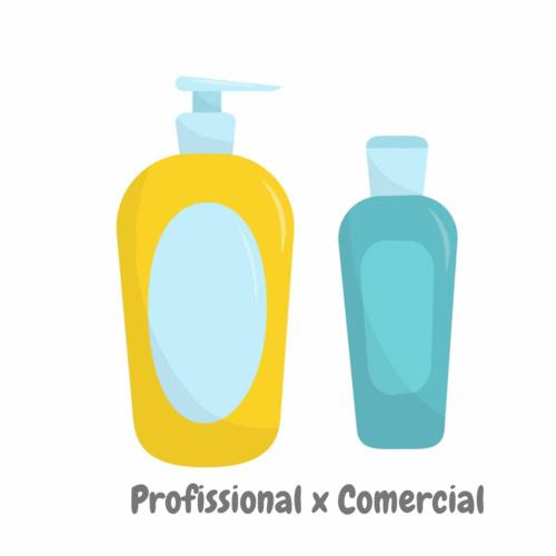 Shampoo profissional x comercial