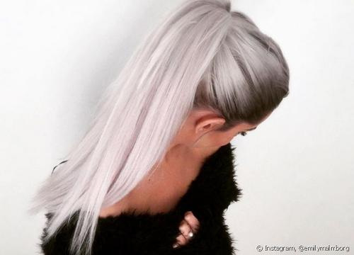 Clarear o cabelo com cinza!